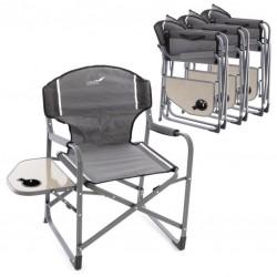 Sada 4 x kempingová stolička so stolíkom a držiakom nápojov