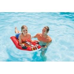 Lehátko/plavací deska s úchyty nafukovací 112x62cm asst 2 barvy v krabici