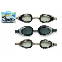 Plavecké brýle asst 3 druhy na kartě 20x15x5cm 14+