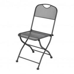 Záhradná kovová skladacia stolička ZWMC-45