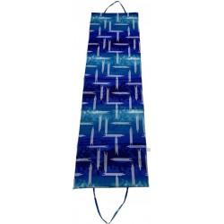Skladacie plážové lehátko - modré
