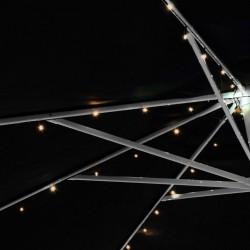Solárna blikajúca reťaz - 72 LED, teplá biela