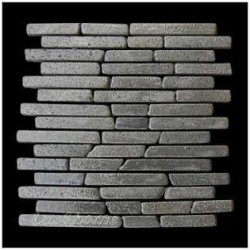 Mozaika z andezitu Parquet Black Candi Alur Style- 1× sieťka