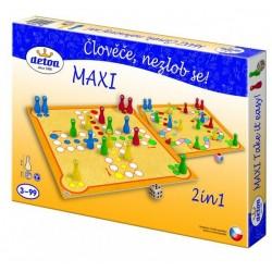 Člověče, nezlob se maxi 2v1 společenská hra v krabici 33,5x23x3,5cm