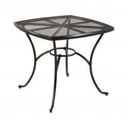 Záhradný kovový stôl Venezia 80 × 80 cm - čierna