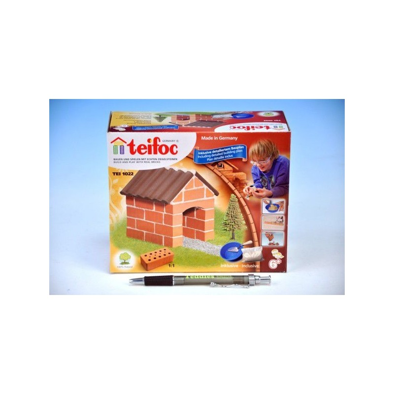 Stavebnice Teifoc Chatka v krabici 18x8x8cm