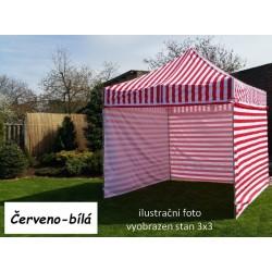 Záhradný párty stan PROFI STEEL 3 x 4,5 - červeno-biela