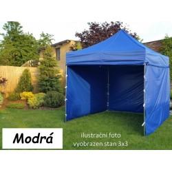 Záhradný párty stan PROFI STEEL 3 x 4,5 - modrá