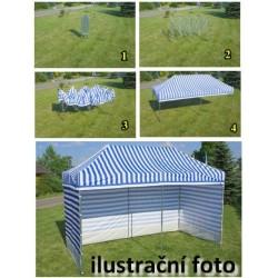 Záhradný párty stan PROFI STEEL 3 x 4,5 - biela