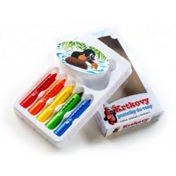 Pastelky do vany Krtek 5ks s houbičkou v krabičce 12x20x2,5cm