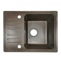 Granitový drez s odkvapkávačom, hnedý, 32 x 19 x 39 cm