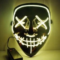 Maska so svetelným efektom - The Purge - žltá