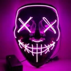 Maska so svetelným efektom - The Purge - ružová