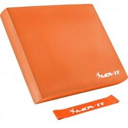 Balančný vankúš s gymnastickou gumou - oranžový