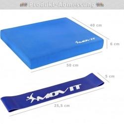 Balančný vankúš s gymnastickou gumou - modrý