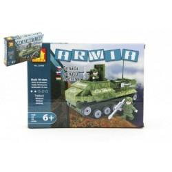 Stavebnice Dromader Vojáci Tank 22408 199ks v krabici 25,5x18,5x4,5cm