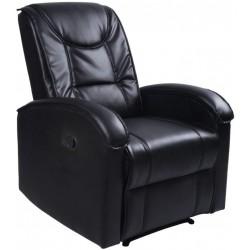Televízne kreslo, čierne, 80 x 92 x 98 cm