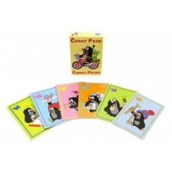 Černý Petr Krtek společenská hra - karty v krabičce 6x9cm