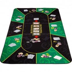 Skladacia pokerová podložka, zelená/čierna, 160 x 80 cm