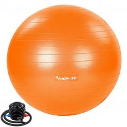 MOVIT Gymnastická lopta s nožnou pumpou, 65 cm, oranžová