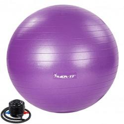 MOVIT Gymnastická lopta s nožnou pumpou, 55 cm, fialová