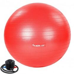MOVIT Gymnastická lopta s nožnou pumpou, 55 cm, červená