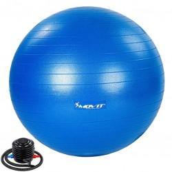 MOVIT Gymnastická lopta s nožnou pumpou, 55 cm, modrá