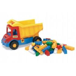 Auto multitruck s kostkami plast 37cm asst 2 barvy v síťce 12m+ Wader