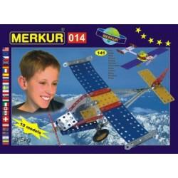 Stavebnice MERKUR 014 Letadlo 10 modelů 141ks v krabici 26x18x5cm