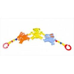 Řetěz/zábrana medvěd zajíc plast 43cm v sáčku 0m+