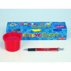 Prstové barvy omyvatelné asst 3 barvy v krabičce 23x5x6cm 3+