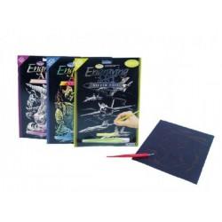 Škrabací obrázek Royal 20x25cm asst 12 druhů na kartě