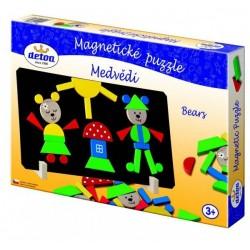Magnetické puzzle Medvědi v krabici 33x23x3,5cm
