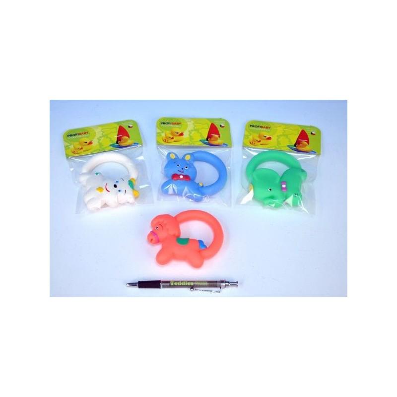 Hračka s úchytem gumová 10cm - 5 druhů