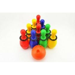 Bowling kuželky plast 21cm 10ks v síťce