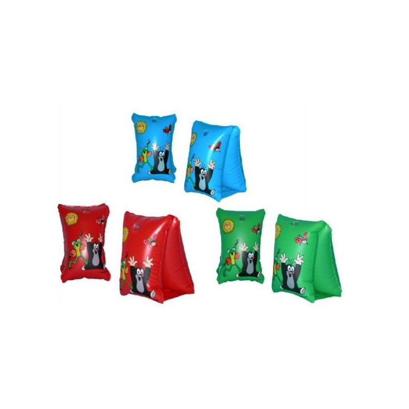 Rukávky Krtek nafukovací 30x15cm asst 3 barvy v sáčku  6-12 let