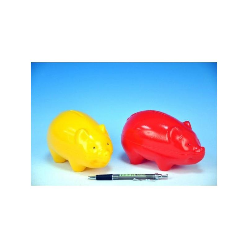 Pokladnička Prasátko plast 16cm asst 2 barvy 12m+