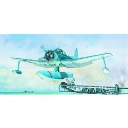 Model Curtiss SC-1 Seahawk 15,5x17,3cm v krabici 31x13,5x3,5cm
