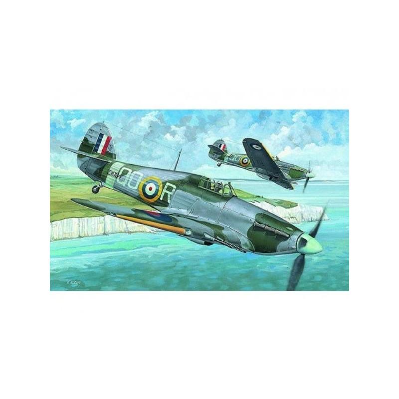 Model Hawker Hurricane MK.IIC 13,6x16,9cm v krabici 25x14,5x4,5cm