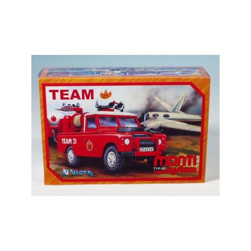 Stavebnice Monti 03 Team 21 Land Rover 1:35 v krabici 22x15x6cm