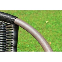 Záhradná ratanová stolička Bistro - čierna s hnedou štruktúrou