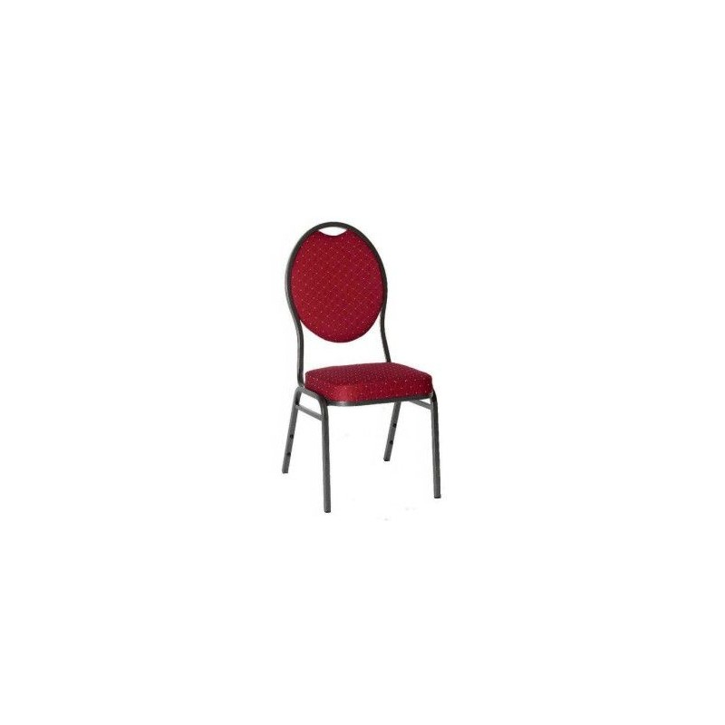 Kvalitná stolička kovová Monza - červená