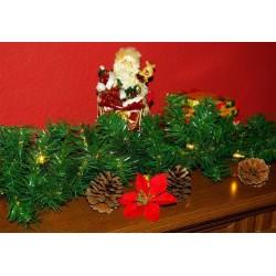Vianočná dekorácia - girlanda s osvetlením 2,7 m