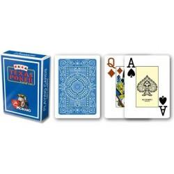 Modiano 2 rohy 100 % plastové karty – modré