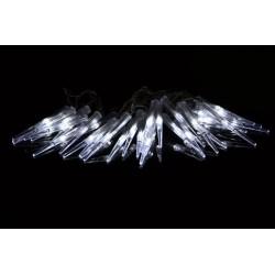 Vianočné dekoratívne osvetlenie - cencúle - 60 LED studená biela