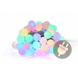 Záhradné párty osvetlenie – vonkajšie 50 LED pastelové farby