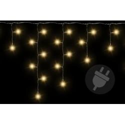 Vianočný svetelný dážď 72 LED teplá biela - 2,7 m