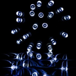 Vianočné LED osvetlenie 10 m - studená biela 100 LED