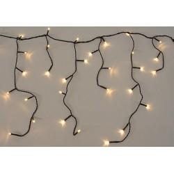 diLED svetelný dážď - 180 LED teplá biela