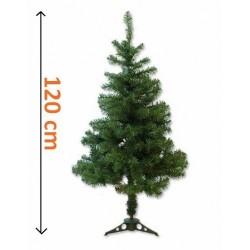 Umelý vianočný stromček - tmavo zelený 1,20 m